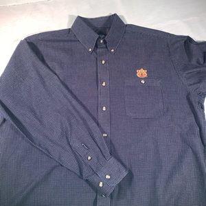 Antigua Auburn Button Down Shirt Size L